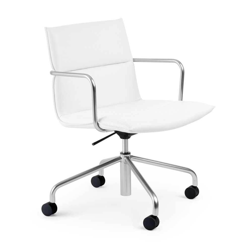 Meredith Mid Back Meeting Chair White