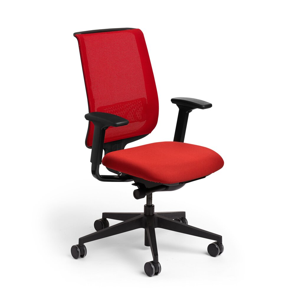 Reply Task Chair, Adjustable Arms, Adjustable Lumbar Red