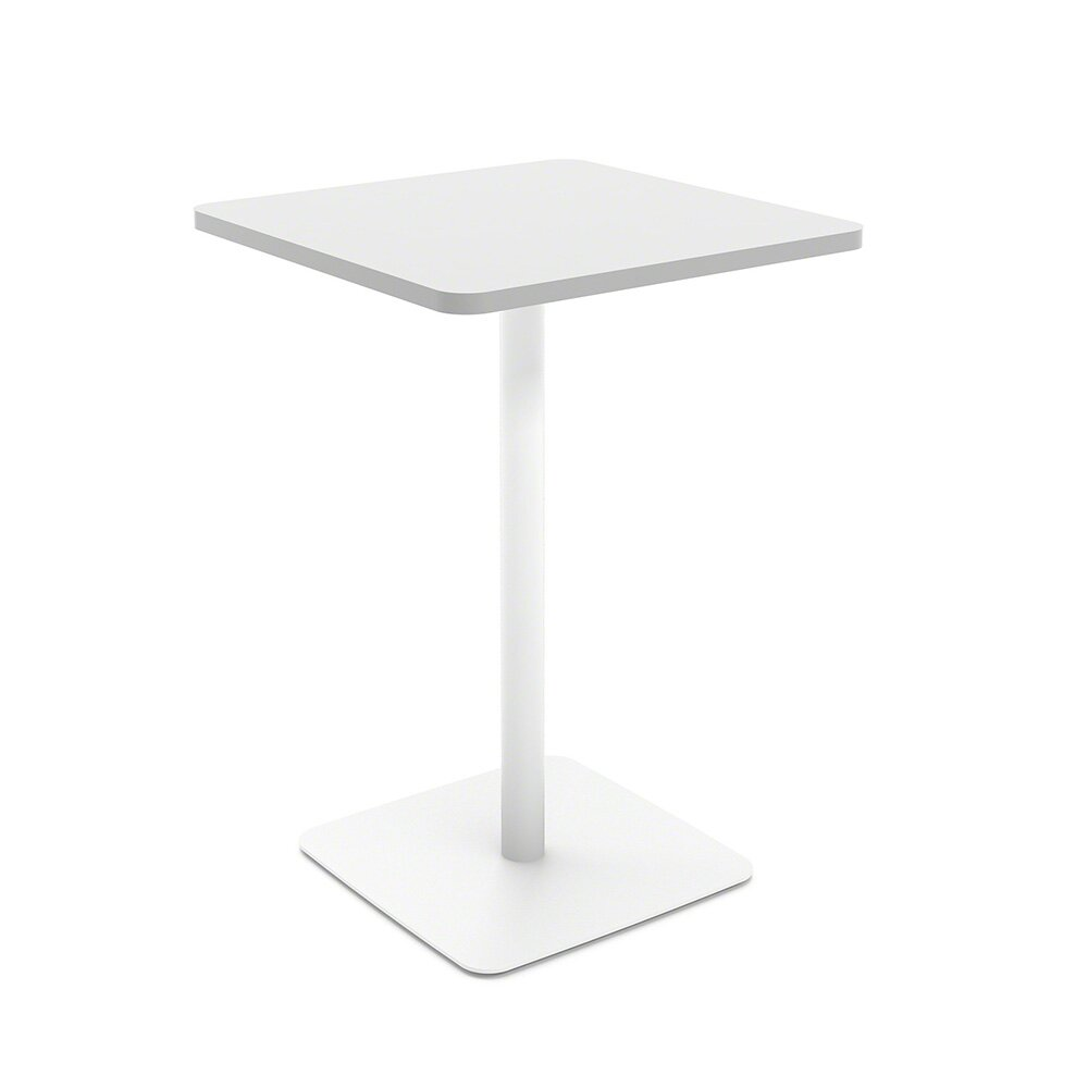 White Simple Square Stand-Up Table