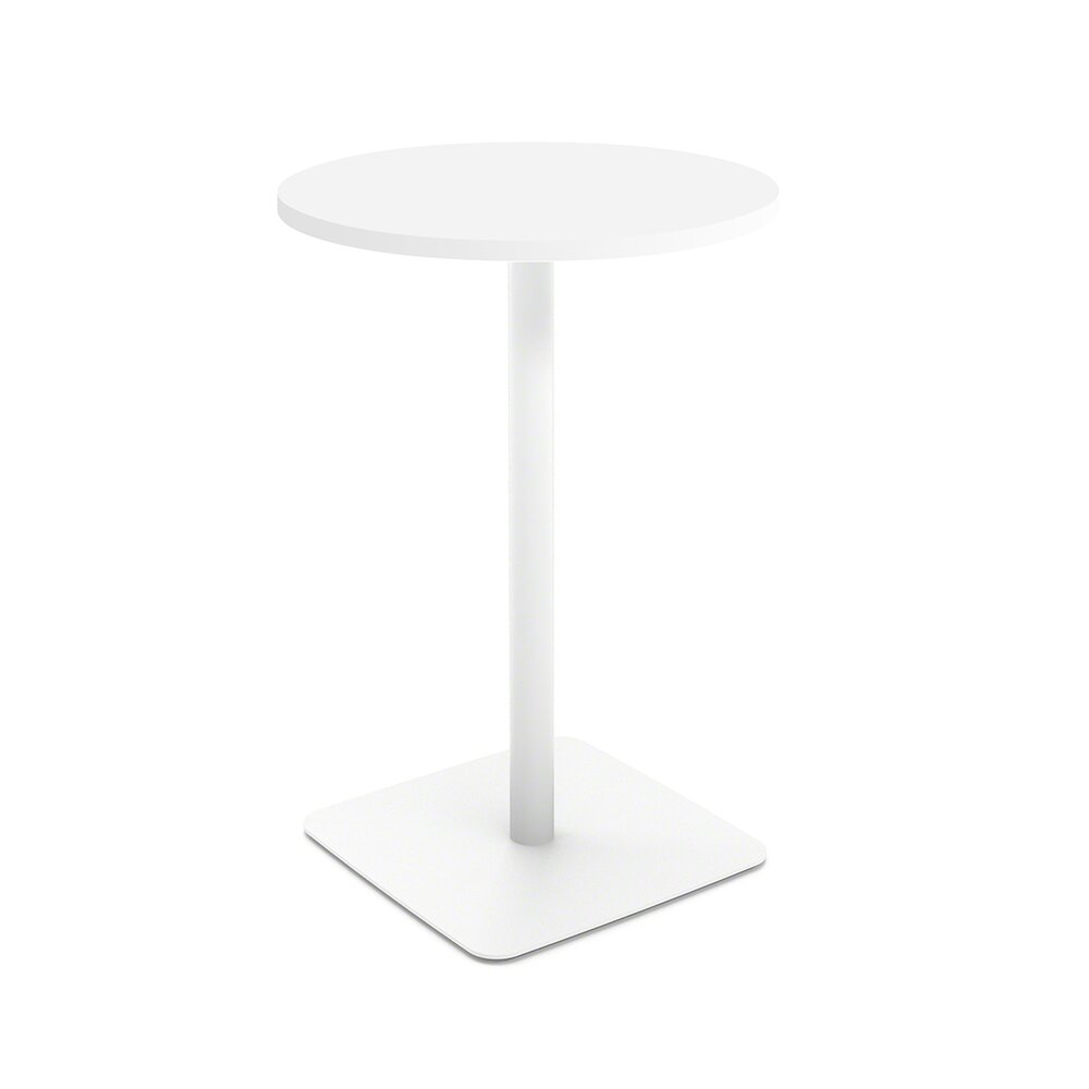 White Simple Round Stand-Up Table