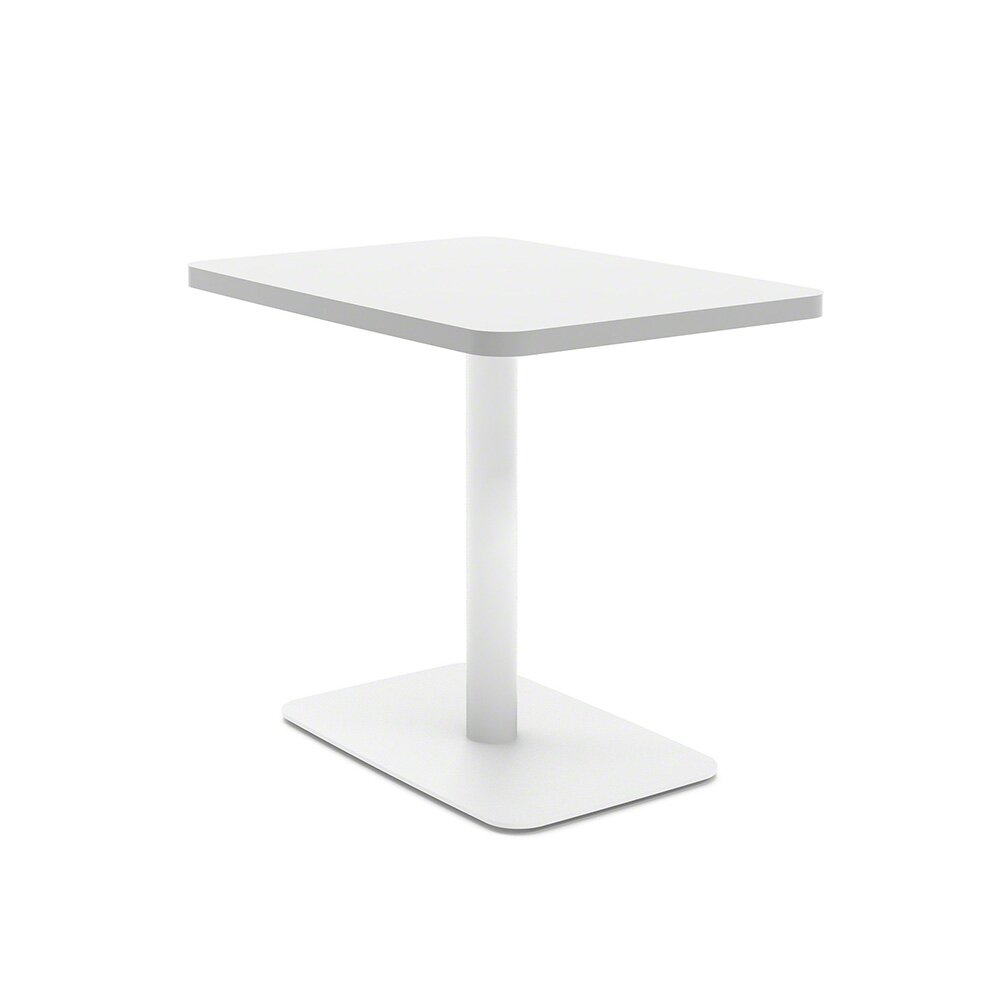 White Simple Lounge Side Table