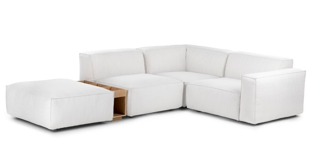 Solae Right Arm Corner Sectional Chill White Oak