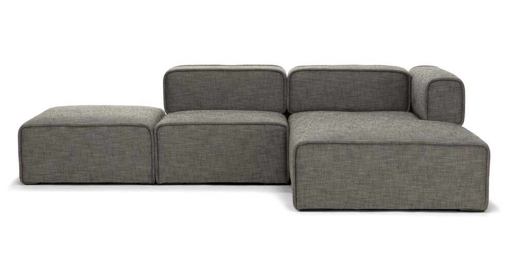 Carbon Modern Modular Right Sectional Taupe