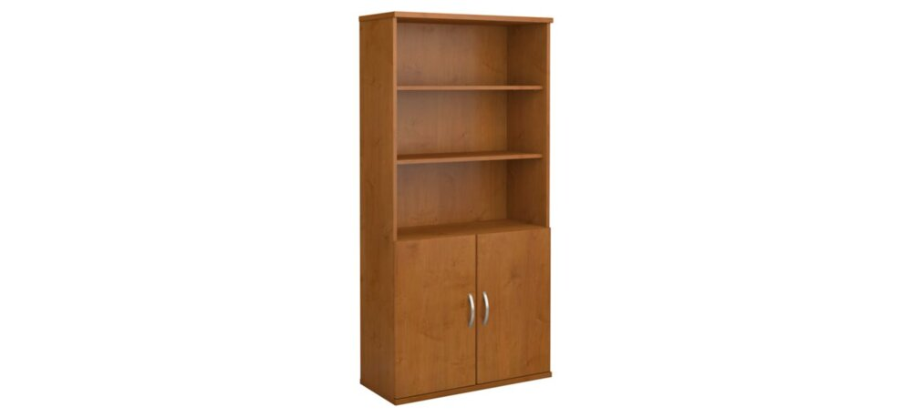 "Series C 36"" Bookcase With Doors Natural Cherry"