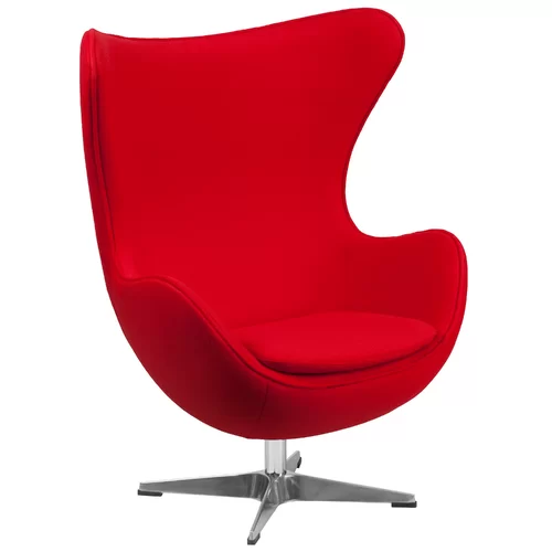 Mankin Swivel Balloon Chair Red
